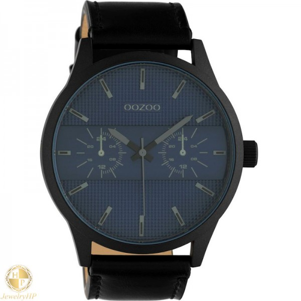 OOZOO man watch with leather strap W4107C10539