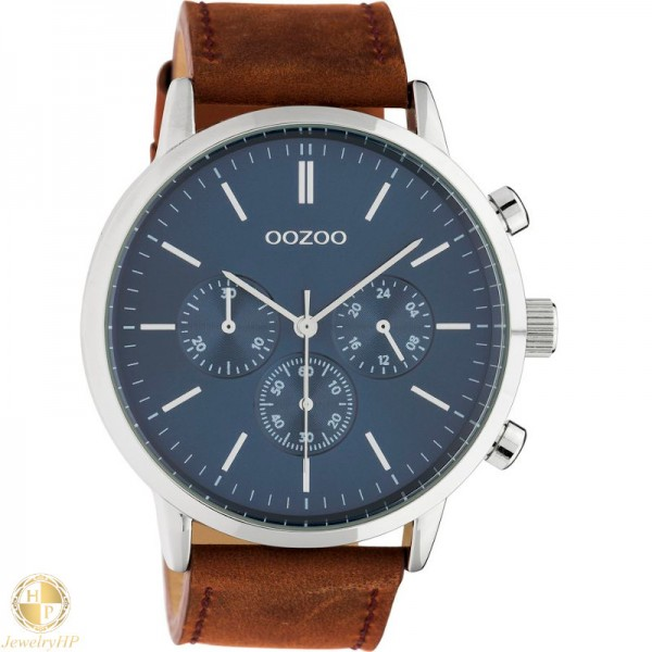 OOZOO man watch with leather strap W4107C10540