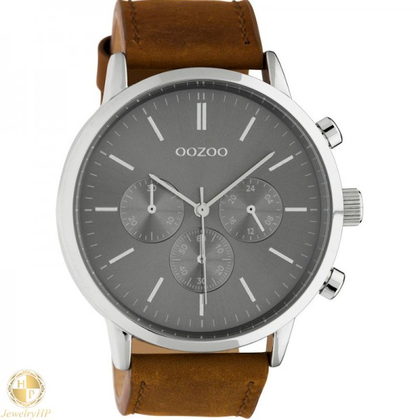 OOZOO man watch with leather strap W4107C10541