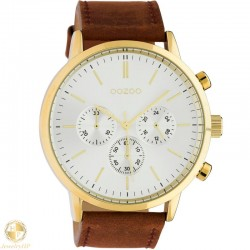 OOZOO man watch with leather strap W4107C10542