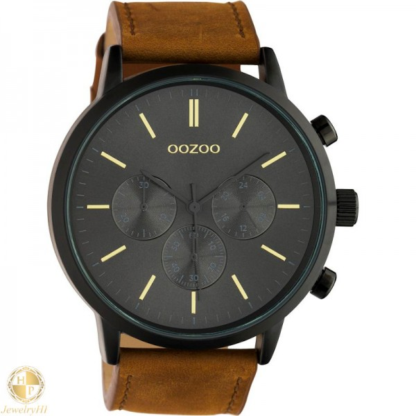 OOZOO man watch with leather strap W4107C10543