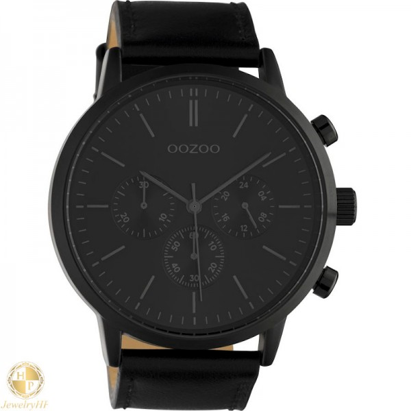 OOZOO man watch with leather strap W4107C10544