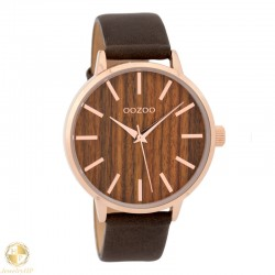 OOZOO female watch with wooden dial