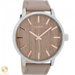 OOZOO male watch with wooden dial