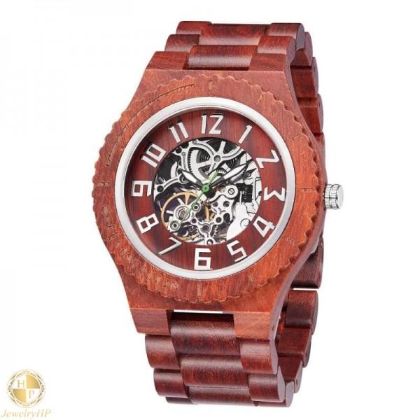 Mechanical wooden watch