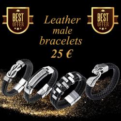 Offer leather bracelets