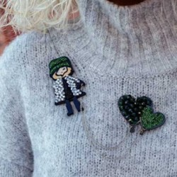 Girl brooches