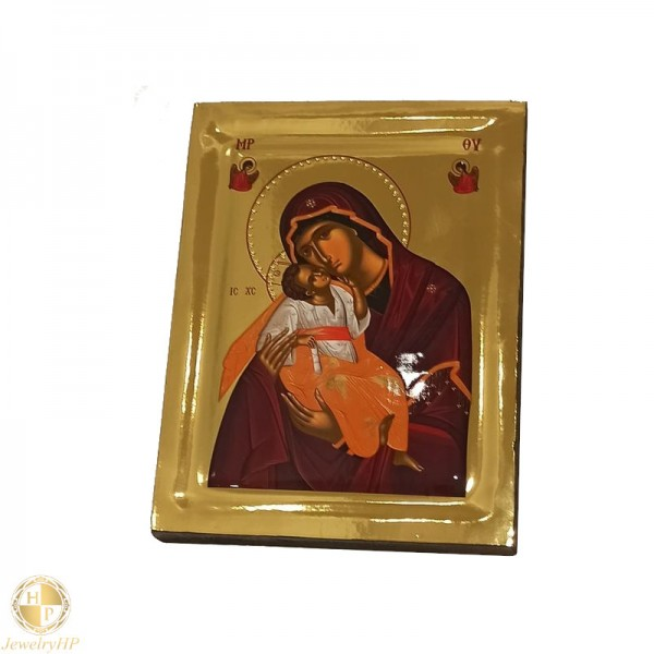 Virgin Mary Glykophilousa - Polished icon